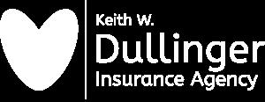 Keith W. Dullinger Insurance Agency White Logo